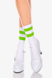 526-White / Lime Green